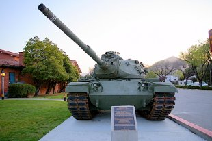 M60A3 Patton Battle Tank Front View