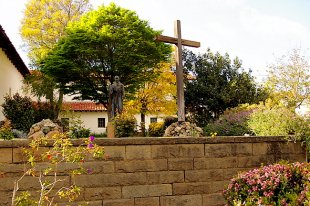 Old Mission Junipero Serra Statue and Cross