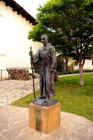 Old Mission Junipero Serra Statue
