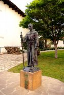 Old Mission Junipero Serra Statue in San Luis Obispo, CA